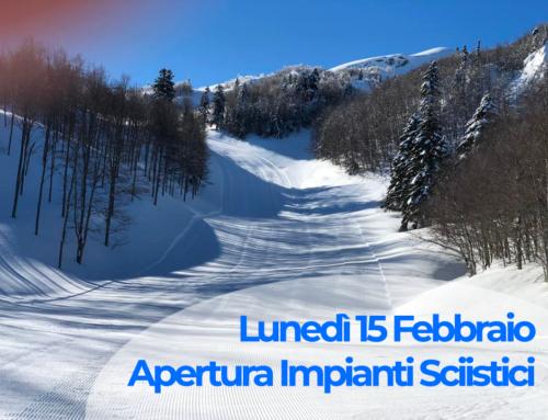 Da lunedì 15 Febbraio IMPIANTI APERTI per gli sciatori amatoriali a Cerreto Laghi